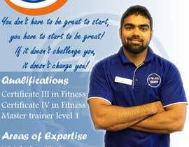 Nro 9 kilpailuun A4 poster - personal trainer profile käyttäjältä highdragon