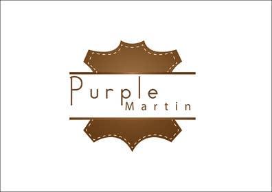 "Prodesigns786 tarafından Design a logo for a leather brand ""Purple Martin"" için no 24"