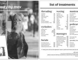 Nro 4 kilpailuun Design a Flyer for beauty services for women käyttäjältä mariadelrey