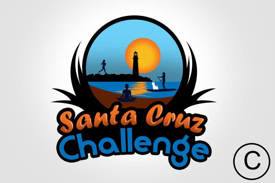 #96 for Illustration Surfer Sunset Santa Cruz Dog LOGO contest by rogeliobello