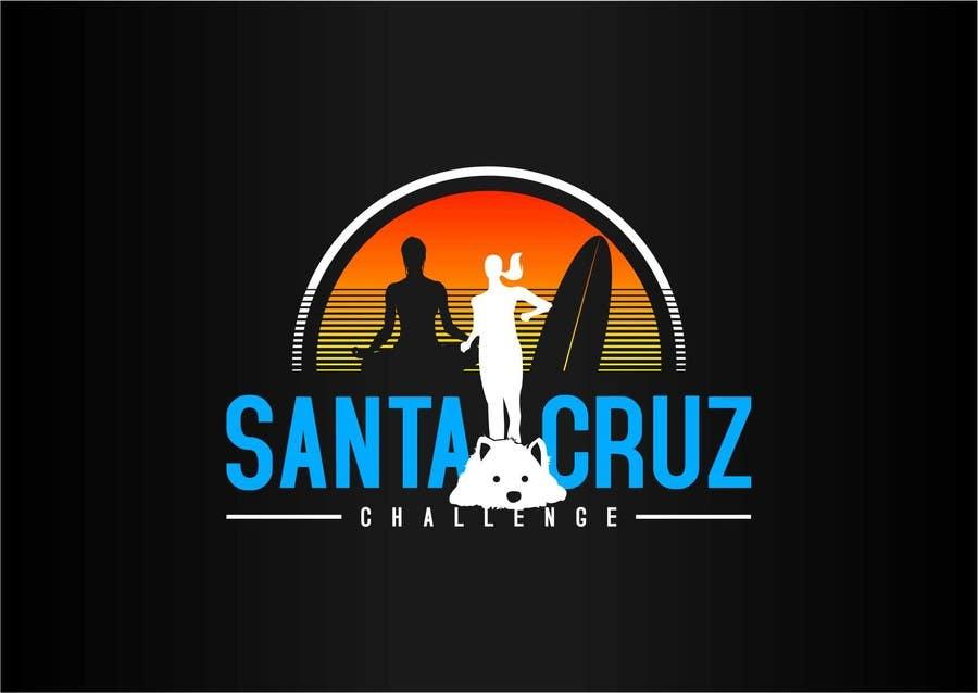 #42 for Illustration Surfer Sunset Santa Cruz Dog LOGO contest by eremFM4v