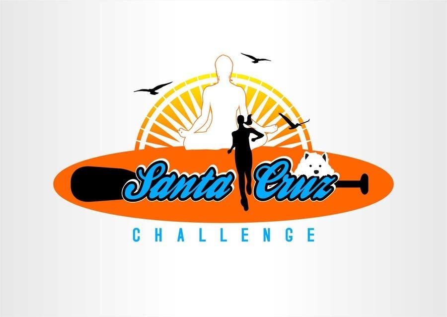 #58 for Illustration Surfer Sunset Santa Cruz Dog LOGO contest by eremFM4v