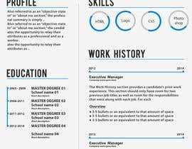 Nro 23 kilpailuun Graphic Design for Resume Template käyttäjältä jhosser