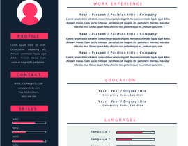 Nro 24 kilpailuun Graphic Design for Resume Template käyttäjältä jhosser