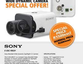 #14 untuk Design a Flyer for a Special Offer on Sony CCTV Camera Model FB-531 oleh whoislgc