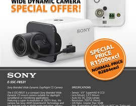 #26 untuk Design a Flyer for a Special Offer on Sony CCTV Camera Model FB-531 oleh whoislgc