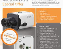 #9 for Design a Flyer for a Special Offer on Sony CCTV Camera Model FB-531 by dfvdiego