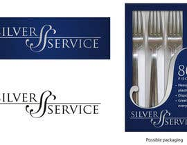 #54 cho Logo Design for Premium Disposable Cutlery - Silver Service bởi StickmenStudio