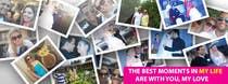 Contest Entry #76 for Design a Facebook Cover for a Couple with photos