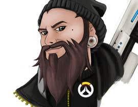 Nro 13 kilpailuun Illustrate my face as an Overwatch character käyttäjältä bulletirde