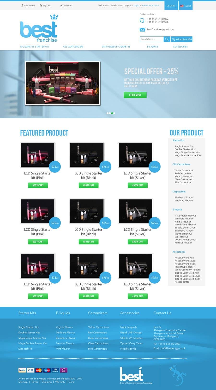 Inscrição nº 4 do Concurso para One page website design for franchise