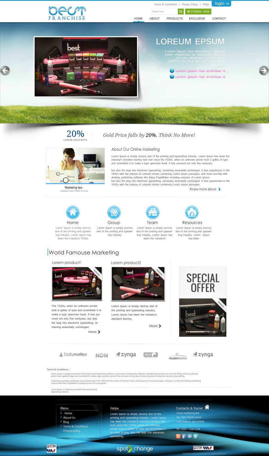 Bài tham dự cuộc thi #2 cho One page website design for franchise