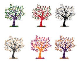#32 untuk Wall decal design - Trees and Flowers oleh elenabsl