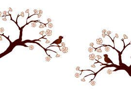 #55 for Wall decal design - Trees and Flowers af elenabsl