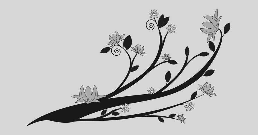 Inscrição nº 23 do Concurso para Wall decal design - Trees and Flowers