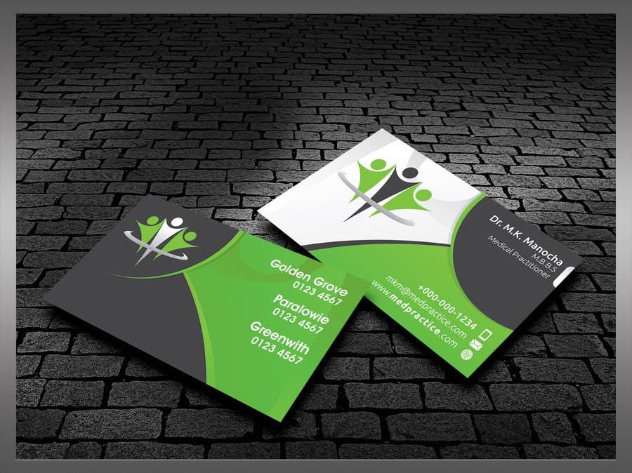Penyertaan Peraduan #49 untuk Medical Practice Business Card Design