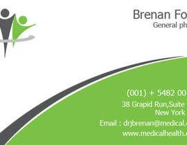 nº 20 pour Medical Practice Business Card Design par mydZnecoz