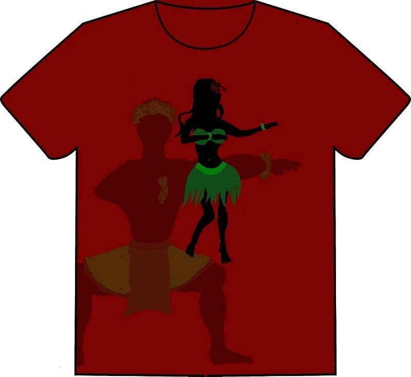 #5 for Design a T-Shirt for Hula dancing event by AbhijitKhadapkar