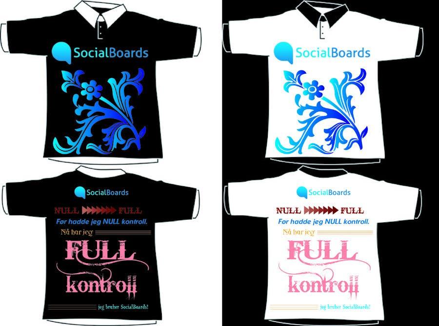 Penyertaan Peraduan #                                        29                                      untuk                                         T-shirt Design for SocialBoards