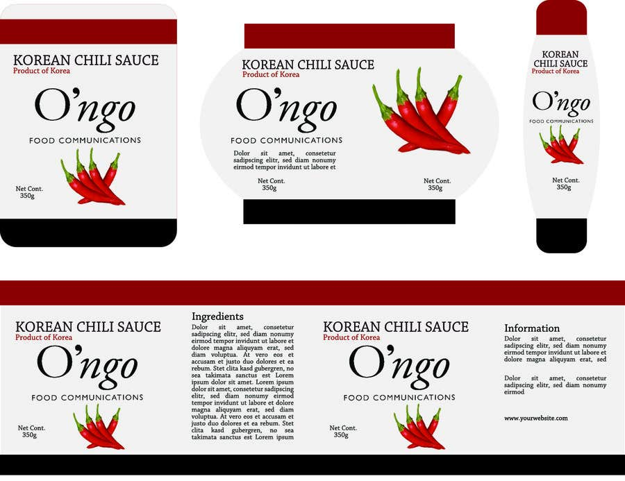 Contest Entry #29 for Create labels for food containers..