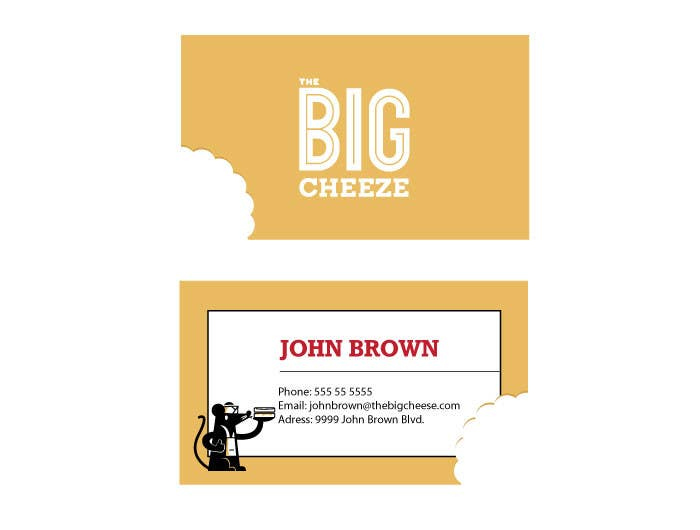 Proposition n°6 du concours Design some Business Cards for the Big Cheeze food truck