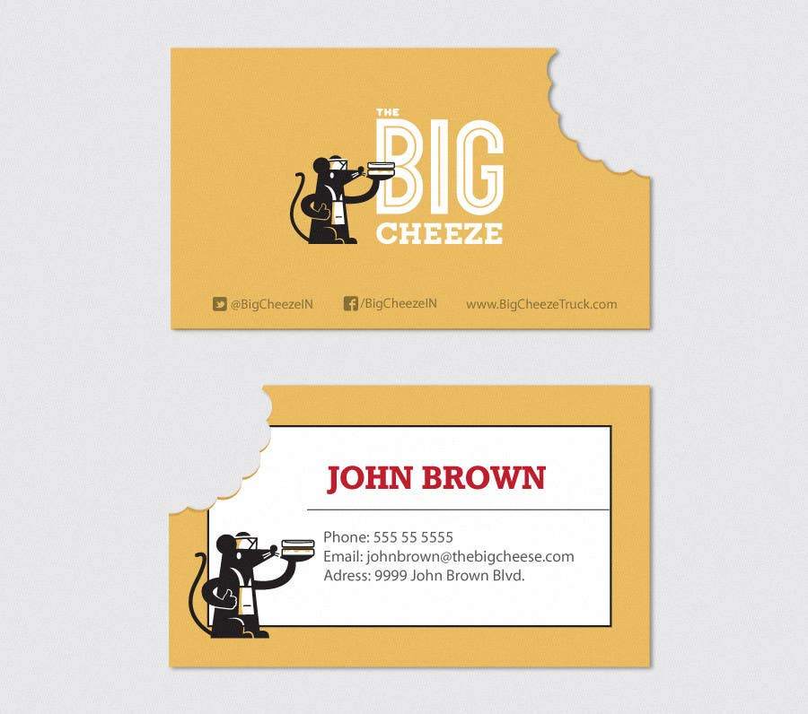 Proposition n°14 du concours Design some Business Cards for the Big Cheeze food truck