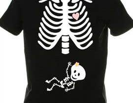 #12 for Pregnant Skeleton T-shirt Design by nextstep789123