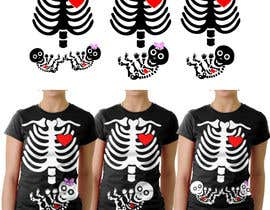 #1 para Pregnant Skeleton T-shirt Design por marscortejo