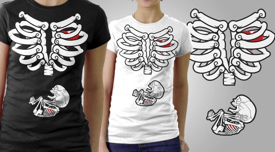 #5 for Pregnant Skeleton T-shirt Design by marscortejo