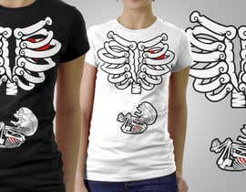 #5 para Pregnant Skeleton T-shirt Design por marscortejo