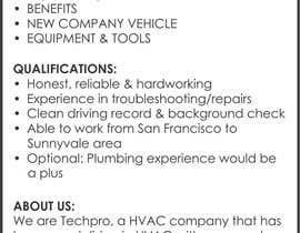 meenastudio tarafından Design a Job Wanted Ad - HVAC Service Technician için no 6