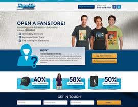 Nro 10 kilpailuun Landing Page for an Apparel Company käyttäjältä dsquarestudio
