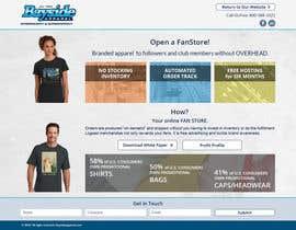 Nro 12 kilpailuun Landing Page for an Apparel Company käyttäjältä ivansmf