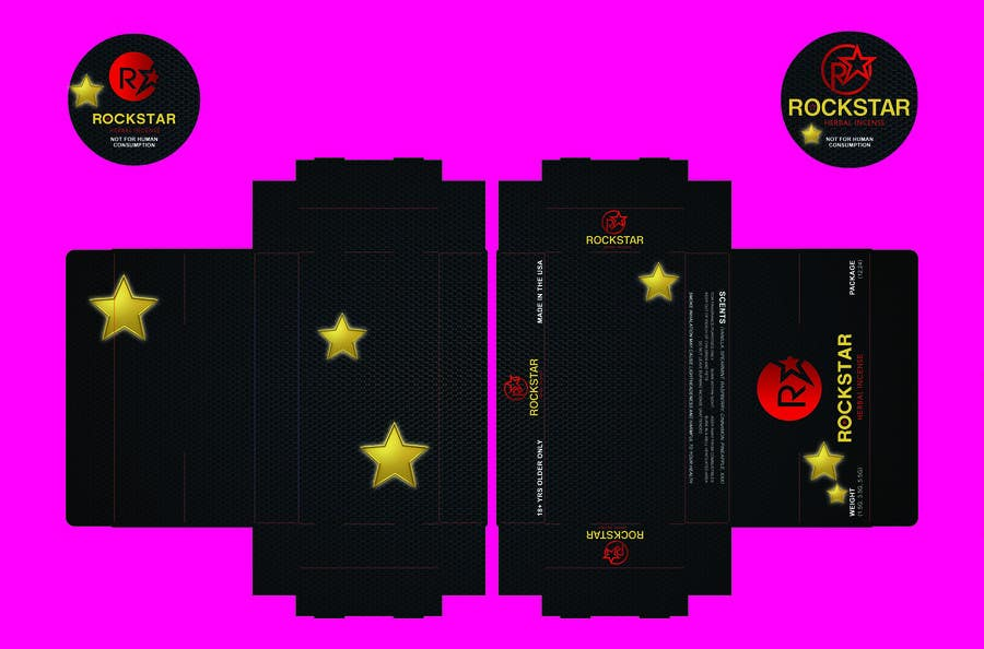 Contest Entry #                                        6                                      for                                         Print & Packaging Design for Rockstar Herbal Incense