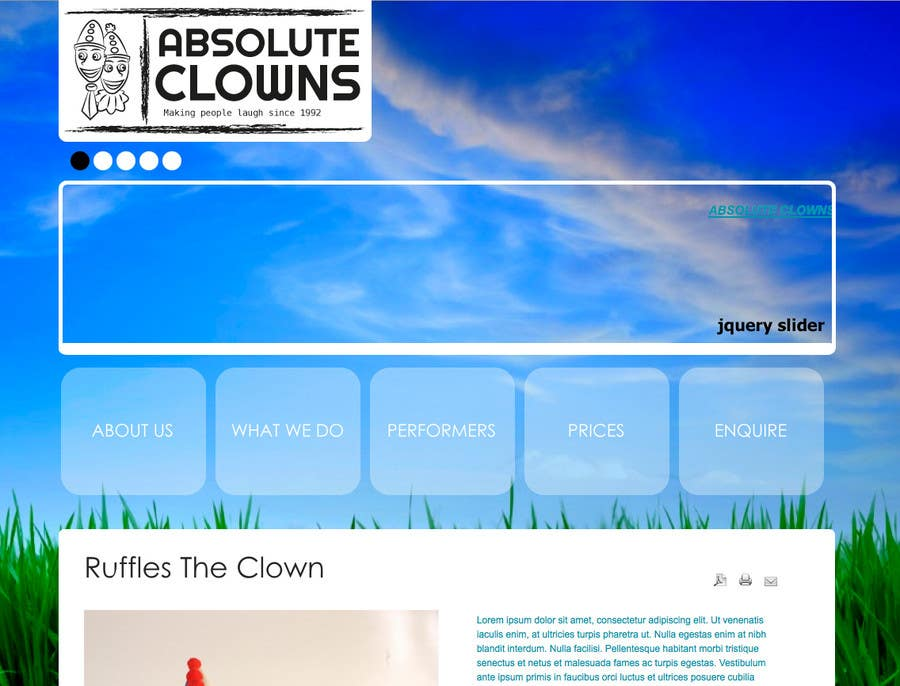 Contest Entry #                                        69                                      for                                         Graphic Design for Absolute Clowns (Australian based company located in Sydney, NSW)
