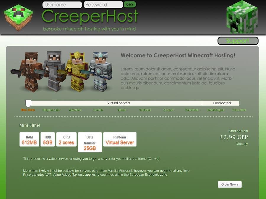 #5 for Design a Website for www.creeperhost.net by tomfarrow