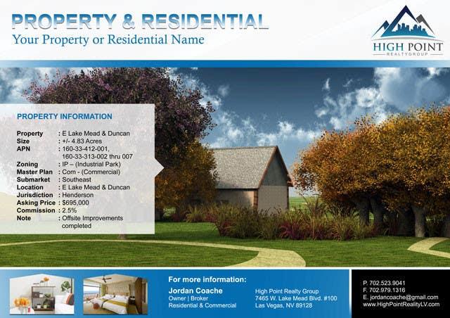 #4 for Design a Flyer for Real Estate by lardher