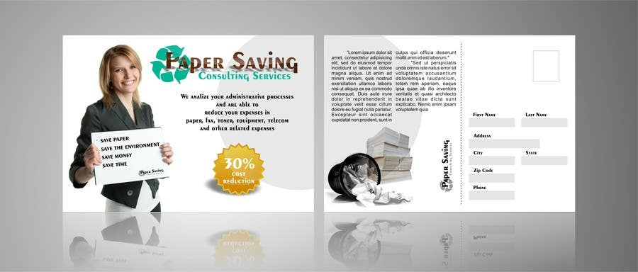 Penyertaan Peraduan #10 untuk Ad to attract customer to get Paper Saving Consulting Services