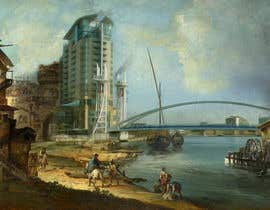 #81 untuk Fun Project - Photoshop new buildings into an old painting oleh TaseerID