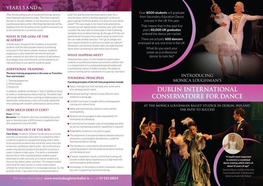 Inscrição nº 34 do Concurso para Design a Flyer for a prestigious dance academy