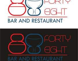 Nro 294 kilpailuun Design a Logo 88FortyEight Bar and Restaurant käyttäjältä colognesabo