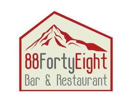 Nro 284 kilpailuun Design a Logo 88FortyEight Bar and Restaurant käyttäjältä virtual2