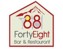 Nro 291 kilpailuun Design a Logo 88FortyEight Bar and Restaurant käyttäjältä virtual2