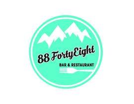 Nro 287 kilpailuun Design a Logo 88FortyEight Bar and Restaurant käyttäjältä gerrydwyer