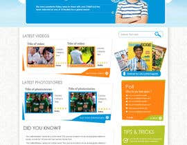 #41 cho Design a Website Mockup for educational online magazine for children bởi MagicalDesigner