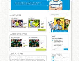 #42 cho Design a Website Mockup for educational online magazine for children bởi MagicalDesigner