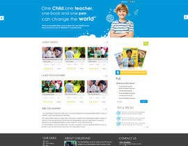 #47 for Design a Website Mockup for educational online magazine for children by MagicalDesigner