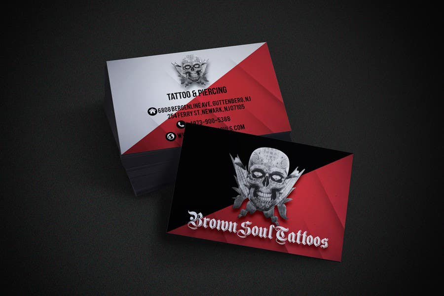 Entry #21 by estefyleon for Tattoo Shop business card design ...
