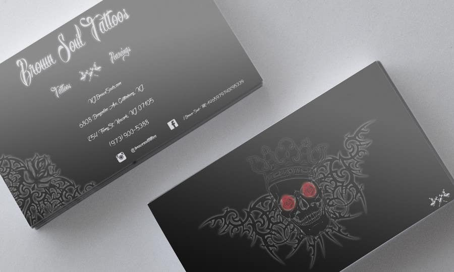 Entry #8 by MMMLH for Tattoo Shop business card design | Freelancer