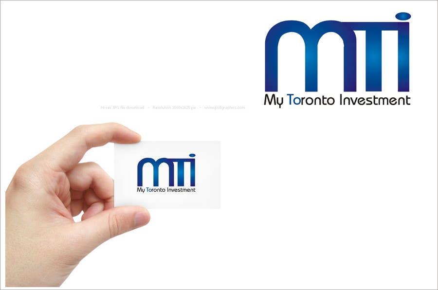 Penyertaan Peraduan #369 untuk Logo Design for My Toronto Investment